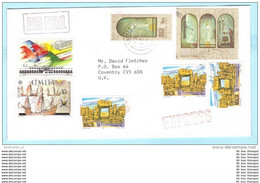 MALTA - Express Brief Cover Lettre 618 620 871 883 886 Tempel - Flugzeug - Schiff Kolumbus - Weihnachten (23935) - Malte