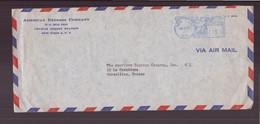 """Etats-Unis, Enveloppe à En-tête """" American Express Company """" Du 16 Juillet 1959 De New York Pour Marseille - Covers & Documents"""