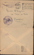 Franchise Cachet Déesse Assise Inspection Des Eaux Et Forêts CAD Flamme Castres Tarn 11 2 1950 Retournée En FM Brassac - Military Postmarks From 1900 (out Of Wars Periods)