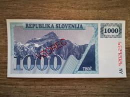 Slovénie 1000 Tolarjev 1990 Specimen UNC - Slovenia