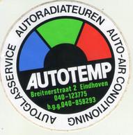 AUTOCOLLANT . STICKER . AUTOTEMP . BREITNERSTRAAT 2 . EINDHOVEN . AUTOGLASSERVICE . AUTORADIATEUREN . AUTO-AIR CONDITION - Stickers