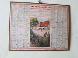 CALENDRIER  OBERTHUR  1941  FERME  DANS  LE  MORBIHAN    DEPARTEMENT 10 - Big : 1941-60