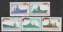 USSR (Russia) - Mi  4162-4166  - The History Of The Russian Fleet - 1973 - MNH - Nuevos