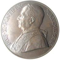 MEDAGLIA - Pio XI Anno X Di Pontificato 1931 - Stazione Radio Vaticana - Annuale - AE - Coniati 800 - RARA - FDC - Royal/Of Nobility