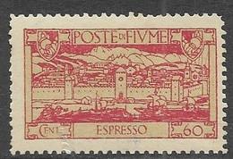 Fiume 1923  Sc#E12  60c  Express Mail  MLH    2016 Scott Value $24 - Fiume