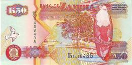 Zambia - Zambie - Billet De 50 Kwacha - NEUF -  ANNEE 2006 - TRES BEL OISEAU - ZEBRE - Zambia