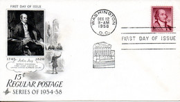 USA. N°639 De 1958 Sur Enveloppe 1er Jour. John Jay. - Unclassified