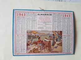 CALENDRIER  OLLER  1943   FEMMES  DE  PECHEURS  DEPARTEMENT 49 - Big : 1941-60