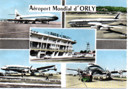 AEROPORT MONDIAL D'ORLY   CARAVELLE BOEING 707  ET LE SUPER-CONSTELLATION  AIR FRANCE - Orly