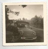 Photographie Auto  Voiture Estafette Panhard Et Femme   Photo 9x8,8 Cm Env - Automobiles