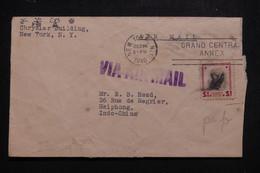 ETAT UNIS - Enveloppe De New York Pour Haiphong (Indochine ) En 1940 Par Avion, Affranchissement Perforé - L 97360 - Covers & Documents