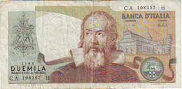 ITALIE - ITALIA - Billet De 2000 Lires - 1973  - état 6,5/10 - 2000 Lire