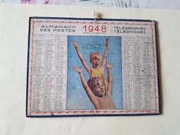 CALENDRIER  OLLER  1948   LA  JOIE  DE  VIVRE   DEPARTEMENT 34 - Big : 1941-60