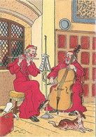 ILLUSTRATEUR - BARRE- DAYEZ -  LES MOINES MUSICIENS -  CARTE COLORISEE - Other Illustrators