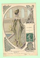 K740 - Illustration Signée Jacques DEBUT - Mode, Le Corset à Travers Les Ages -Style Grec- Erotisme - Femme Seins Nus - - Other Illustrators