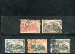 Chili 1923 Yt 124-128 - Chile