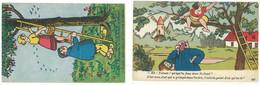 2 Cpa Humour, Couple, érotisme, Femmes Dans Arbres   ( S.4987 ) - Other Illustrators