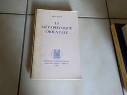 R. Guénon  La Métaphysique Orientale - Esotérisme