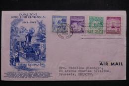 ETATS UNIS / CANAL ZONE - Enveloppe FDC En 1949 Pour La Belgique - L 97369 - Canal Zone