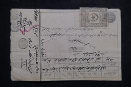TURQUIE - Fiscaux Recto Et Verso Sur Document De L 'Empire Ottoman, à Voir - L 97373 - Covers & Documents