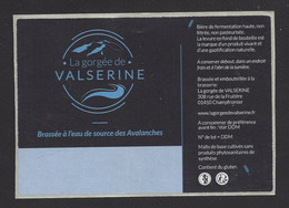Etiquette De Bière Brassée à L'eau De Source Des Avalanches  -  Brasserie De Valserine à Champfromier (01) - Bière