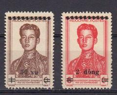 Vietnam Du Nord. 1946 Yvert 52 / 53 ** Neufs Avec Charniere. Norodom Sahanouk - Vietnam