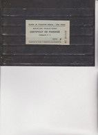 BIGLIETTO  :  CERTIFICAT  DE  PASSAGE  -  MENTON  FRONTIERE . - Europe