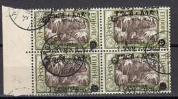 Ethiopie1927 Yvert 143 Oblitere. Bloc De 4. Rhinoceros - Etiopía