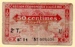 Région Economique D'Algérie. Billet De 50 Centimes. - Algeria