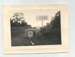 Photographie Panneau L'eure Et Route Homme   Photo 10,5x 8cm Env - Lieux