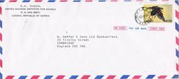 40388. Carta Aerea LUSAKA (Zambia) 1986. Insect Stamp. Amadrodes - Zambie (1965-...)