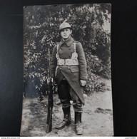 PHOTO CARTE D'UN MILITAIRE BELGE - War, Military