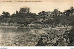 D35  DINARD  La Vicomté  La Plage Et Le Casino - Dinard