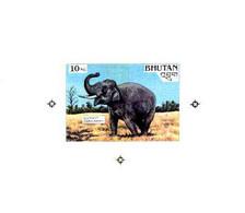 Bhutan 1990 Endangered Wildlife - Intermediate Stage Computer-generated Artwork For 10nu (Elephant) - Bhutan