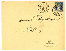 CHER ENV 1895 DUN SUR AURON T84 SUR SAGE + BOITE RURALE E = NON IDENTIFIEE - 1877-1920: Semi Modern Period