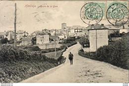 D64  HENDAYE  Route De La Gare  ........ Avec Cachet Ambulant Irun à Bordeaux - Hendaye
