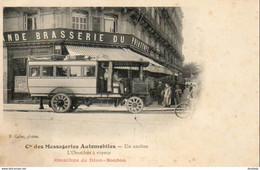 OMNIBUS De Dion Bouton Cie Des Messageries Automobiles  Un Ancêtre L'Omnibus à Vapeur - Bus & Autocars