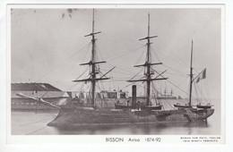 'Bisson' -  Aviso  1874-1892    -  Marine Nationale Francaise   -   Marius Bar Carte Postale - Guerre