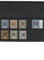 1852 LOT De 7 Timbres GABON Neuf * - Unused Stamps