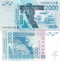 Mali - West African States 2003 - 2000 Francs - Pick 416 UNC Letter D - Mali