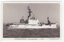 'D'Entrecasteaux'  Océanographe  1979   -  Marine Nationale Francaise   -   Marius Bar Carte Postale - Guerra