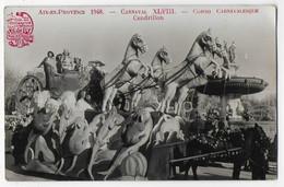 Carte Photo Bon Etat , 9x14cm   Aix-en-provence ,  1948 Carnaval XVIII.  Corso Carnavalesque , Cendrillon - Autres Communes
