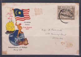 Malaya 1957 Independence Day, Hari Kemerdekaan FDC(Seremban Cancellation) - Malaysia (1964-...)