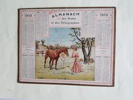 CALENDRIER  OBERTHUR    1910   VISITE  AU  FAVORI   ,   DEPARTEMENT  80 - Big : 1901-20