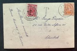TX 10 C. BRUXELLES 1919 BRUSSEL Op Postkaart Fleurus - Brussel - Lettres