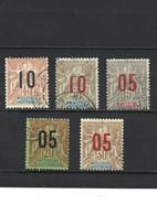1857 LOT De 5 Timbres Nouvelles Calédonie Oblitérés - Usati