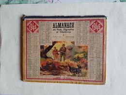 CALENDRIER  OBERTHUR    1946   CHASSE  A  LA  PERDRIX - Big : 1941-60