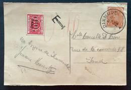 TX 10 C. GENT 1 GAND Op Postkaart Dixmude - Gand - Brieven