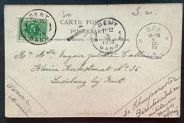 TX 5 C. GENT 1 GAND Op Postkaart Spa - Gand - Brieven