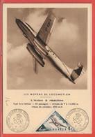 AVIONS MONACO CARTE MAXIMUM DE 1953 - Aerei